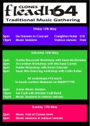 Fleadh 64 – Traditional Music Gathering 15th – 17th May 2015