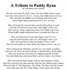 A Tribute to Paddy Ryan
