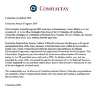 Comhaltas Congress 2009