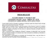 Munster Fleadh 2007 Press Release