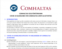 COVID-19 Guidlelines for Comhaltas Units & Activities